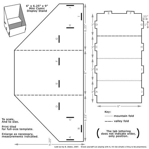 Molde casinha de papelão