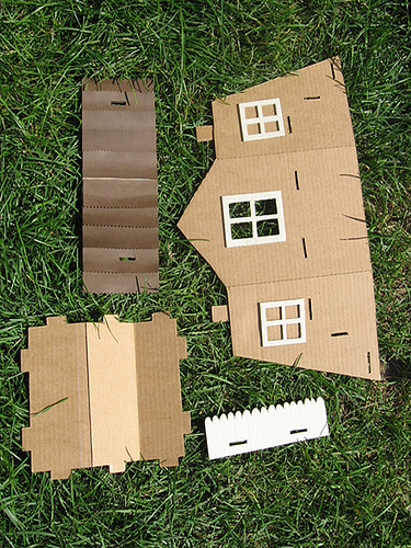 Molde casinha de papelão1