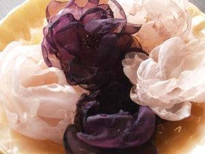 Flores de organza